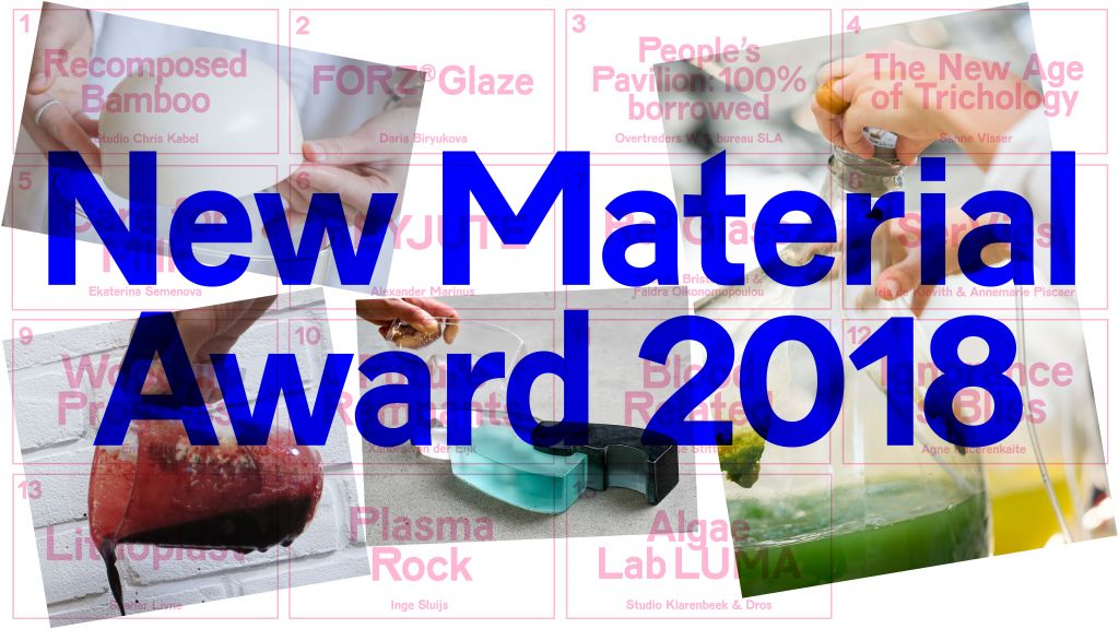 New Material Award 2018. Graphic design: Laura Pappa